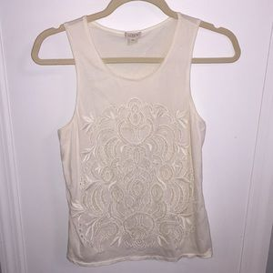 JCREW XS Embroidered Tank Top